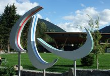 2010 Paralympics Logo in Whistler, British Columbia