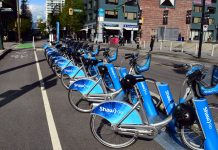 Bike share, Mobi in Vancouver, BC; Photo by ©the Pacific Post
