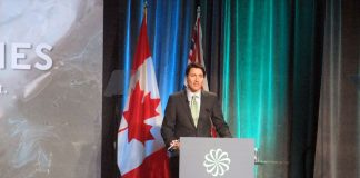 """Prime Minister Trudeau speaks at the business environment conference """"GLOBE"""" on March 2016 at Vancouver, British Columbia; Photo by ©the Pacific Post"""