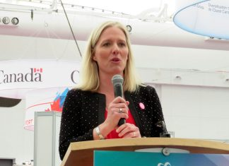 Environment Minister McKenna at GLOBE, Vancouver, March 15, 2018; Photo by ©the Pacific Post