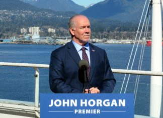 BC Premier Horgan at Canada Place on March, 2018; Photo by ©the Pacific Post
