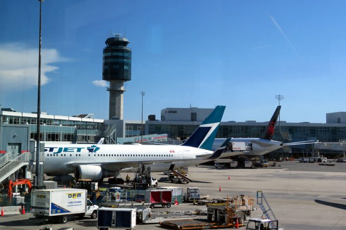Canadian planes at the gates, Vancouver International Airport; Photo by ©Pacific Walkers