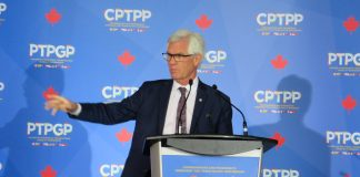 MP Carr at CPTPP conference in Vancouver, BC, February 2019; Photo by ©the Pacific Post