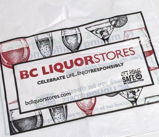 BC Liquor plastic bag, British Columbia; Photo by ©the Pacific Post